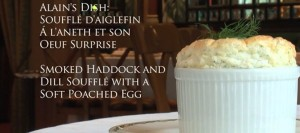 Smoked haddock souffle with poached free range egg