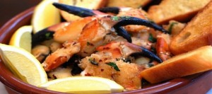 Crabs Claws with Garlic and Chilli