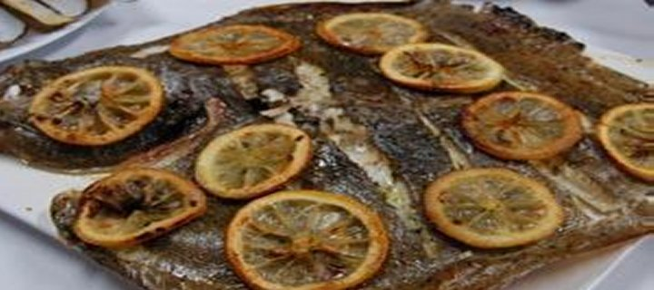 Whole Baked Turbot with Lemon and Herbs