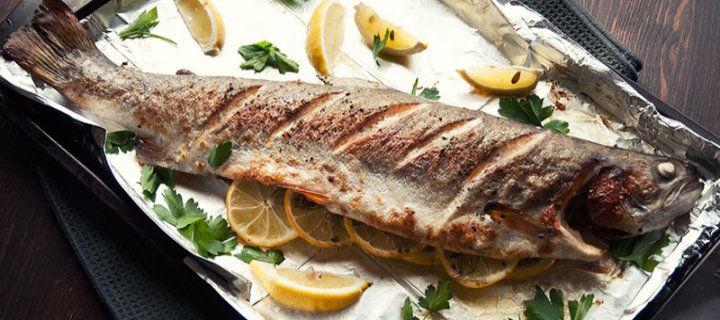 Grilled Trout with Parsley Dill and Lemon