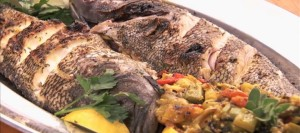 Whole Grilled Sea Bass