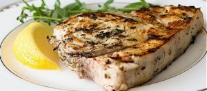 Grilled Swordfish Steaks with Lemon Oregano Marinade