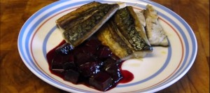 Mackerel with Beetroot Sauce