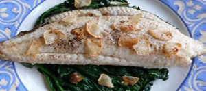 Brill on Spinach
