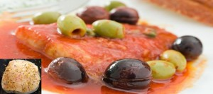 Cornish Hake Steak in Rich Tomato Sauce