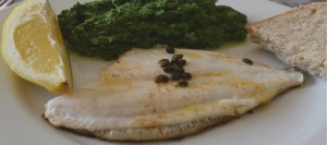 Pan-fried Cornish Megrim Sole with Creamed Spinach