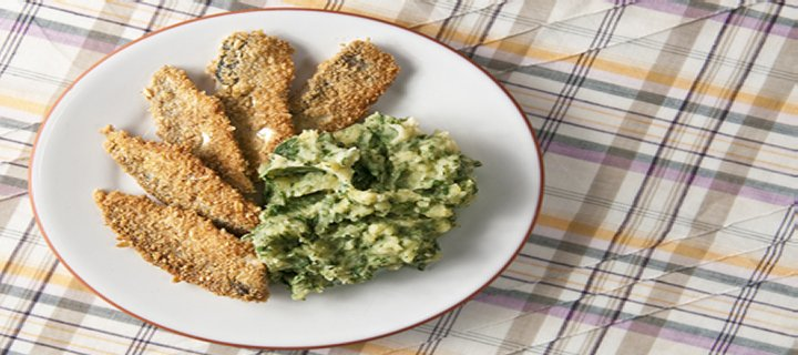 Oat-Crusted Fried Herring
