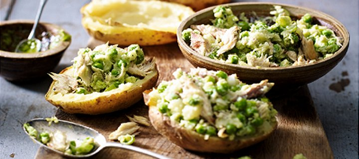 Mackerel Pea and Pesto Jackets