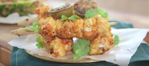 Thai Monkfish Skewers with Pineapple Rice