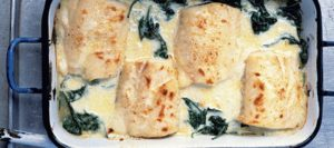Haddock, Spinach and Gruyère Gratin
