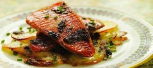 Red Mullet with Potatoes and Olives